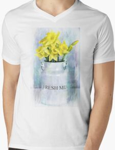 Daffodils and Milk Jug Mens V-Neck T-Shirt