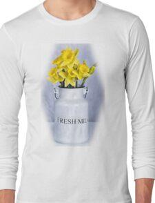 Daffodils and Milk Jug Long Sleeve T-Shirt