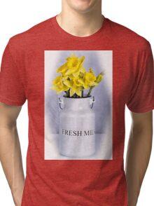 Daffodils and Milk Jug Tri-blend T-Shirt