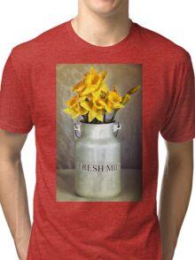 Milk Jug and Daffodils  Tri-blend T-Shirt