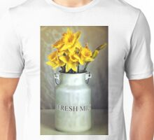 Milk Jug and Daffodils  Unisex T-Shirt