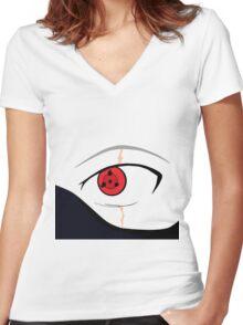 kakashi eyes Women's Fitted V-Neck T-Shirt