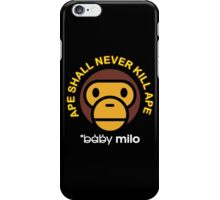 BABY MILO APE SHALL NEVER KILL APE BAPE iPhone Case/Skin
