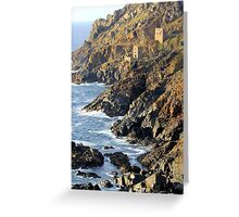 The Crowns Engine Houses, Botallack Greeting Card