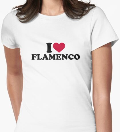 I love Flamenco Womens Fitted T-Shirt
