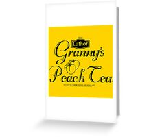 Granny's Peach Tea V1 Greeting Card