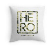 HERO GREEN CAMO SQUARE Throw Pillow