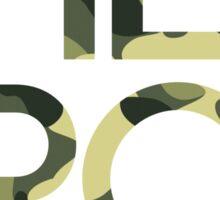 HERO GREEN CAMO SQUARE Sticker