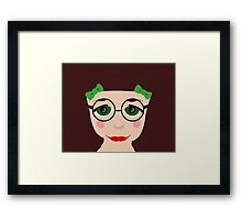 Cartoon Girl Big Eyes  Framed Print
