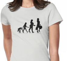 Human Evolution 10 Womens Fitted T-Shirt