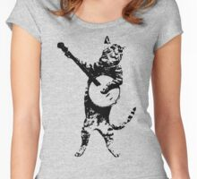 BANJO CAT Funny Women's Fitted Scoop T-Shirt