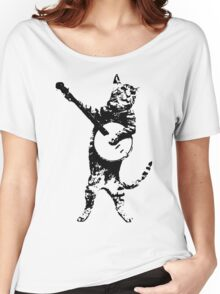 BANJO CAT Funny Women's Relaxed Fit T-Shirt