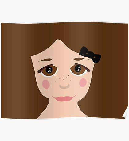 Brown Eyed Girl Freckles  Poster
