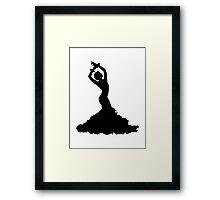 Flamenco woman Framed Print