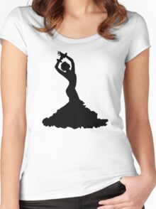 Flamenco woman Women's Fitted Scoop T-Shirt