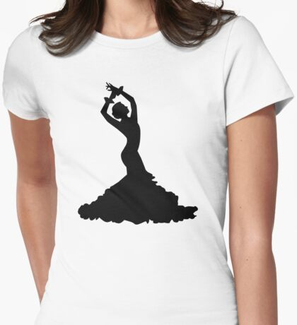 Flamenco woman Womens Fitted T-Shirt