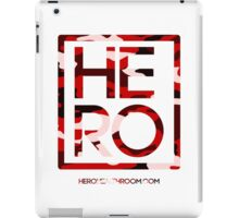 HERO RED CAMO SQUARE iPad Case/Skin