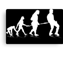 Human Evolution 4 (white) Canvas Print