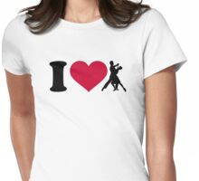 I love foxtrot dancing Womens Fitted T-Shirt