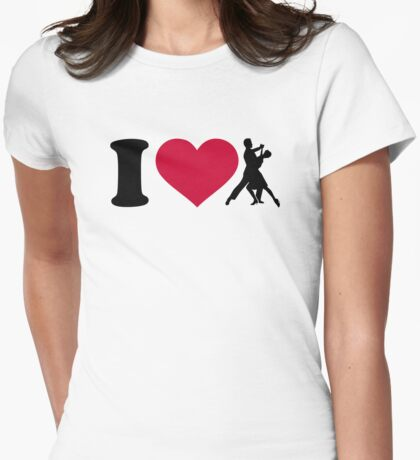 I love foxtrot dancing Womens Fitted T-Shirt