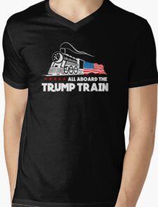 All Aboard the Trump Train! Mens V-Neck T-Shirt
