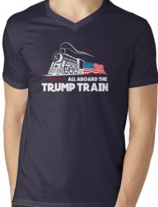All Aboard the Trump Train! Mens V-Neck T-Shirt