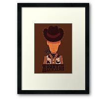 Woody the Kid Framed Print