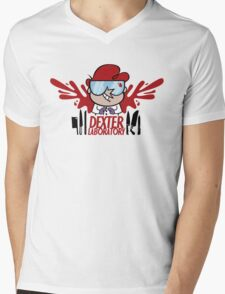 Dexter Laboratory Mens V-Neck T-Shirt