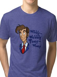 Dr. Seuss of Gallifrey: Wibbly-Wobbly Timey Wimey Tri-blend T-Shirt