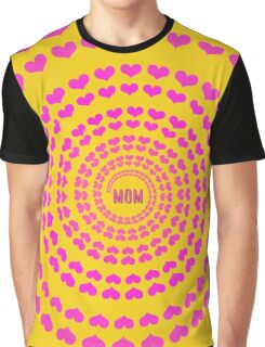 MOM HEARTED - Yellow Graphic T-Shirt
