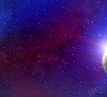Galaxy: planet and nebula Sticker