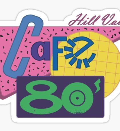 Cafe 80´s Sticker