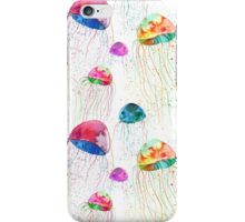 Seamless pattern with watercolor jellyfish iPhone Case/Skin