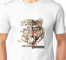 Neck Deep Lyric/ Album art design-lyrics from Head to the ground Unisex T-Shirt