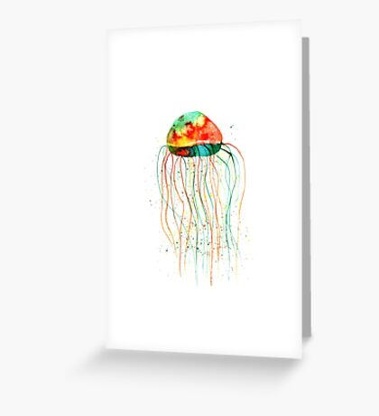 Hand painted watercolor jellyfish Greeting Card