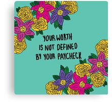Affirmations: Self Worth Canvas Print