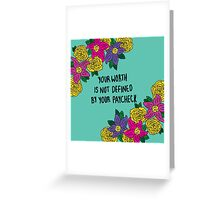 Affirmations: Self Worth Greeting Card