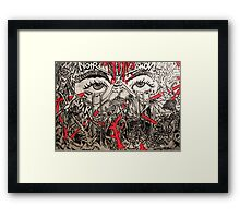 Eyes noir Framed Print
