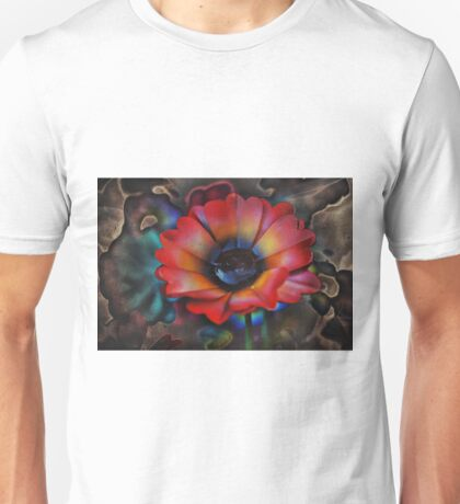 Red Flower and background Unisex T-Shirt