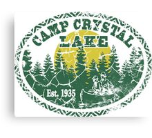 Camp Crystal Lake Retro Distressed Canvas Print