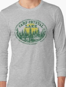 Camp Crystal Lake Retro Distressed Long Sleeve T-Shirt