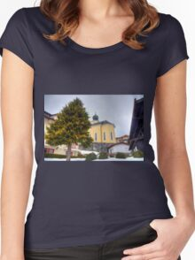 Saalbach, Austria Women's Fitted Scoop T-Shirt