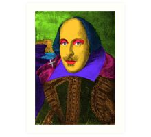 William Shakespeare Pop Art Art Print