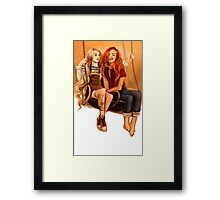 Luna Lovegood ang Ginny Weasley Framed Print