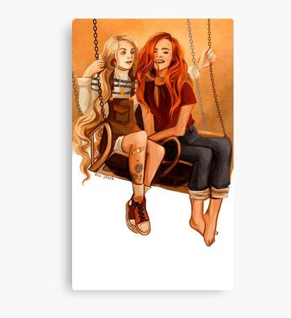 Luna Lovegood ang Ginny Weasley Canvas Print