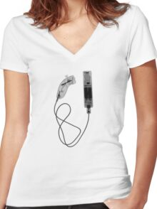 Nintendo Wii Controller - X-Ray Women's Fitted V-Neck T-Shirt