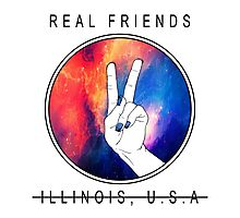"Real Friends ""Peace out"" Photographic Print"
