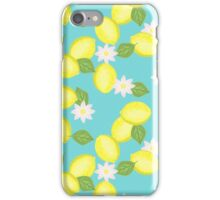 Fresh Lemons and Flowers iPhone Case/Skin