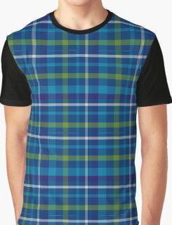 Blue Tartan Graphic T-Shirt