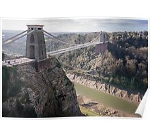 Clifton suspension bridge Poster